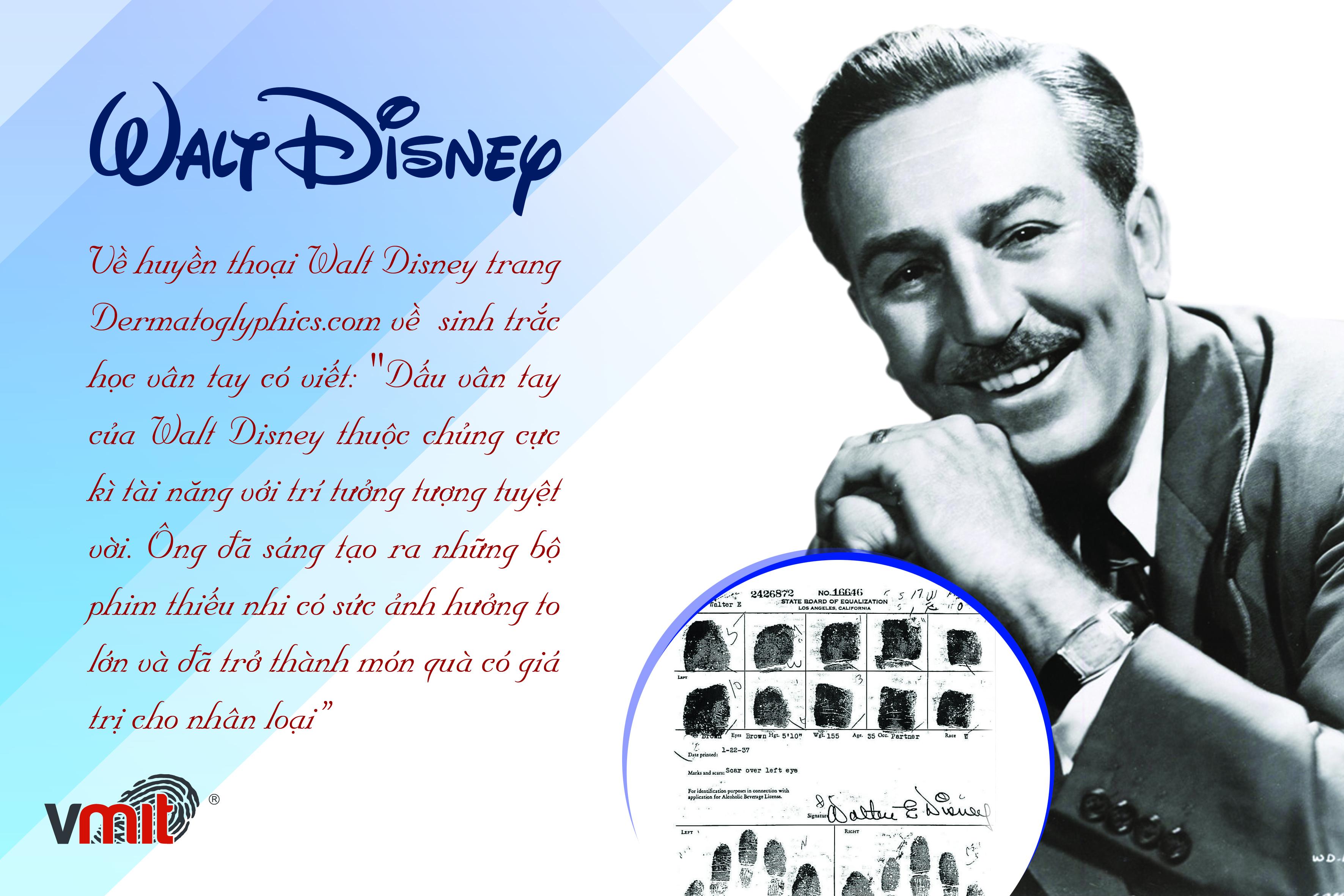 Vân tay của thiên tài Waltd Disney